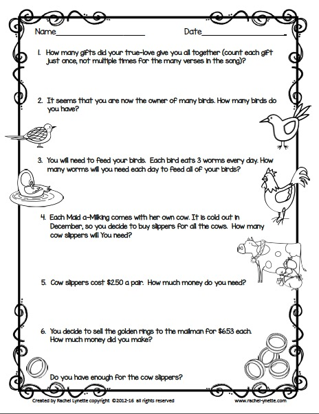 algebra 2 christmas story ticking (2) sing the song listed (3) on page f16 find the item labeled number 1, cut it out , and glue it on the nativity scene in the outline that is the.