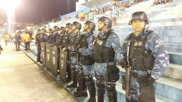 Guarda Municipal de Belém (PA) garante o policiamento no jogo Paysandu x Ceará no Estádio da Curuzu