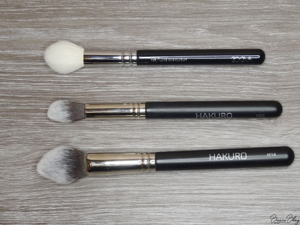 Zoeva 105 Luxe Highlight, Hakuro H22, Hakuro H14