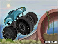 Take big wheels out for a spin in extreme trucks by #GamesSheep!
