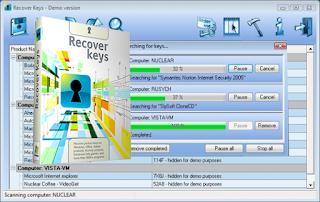 اقوى برنامج لإستخراج جميع تفعيلات البرامج المثبتة لديك Recover Keys 10.0.4.196