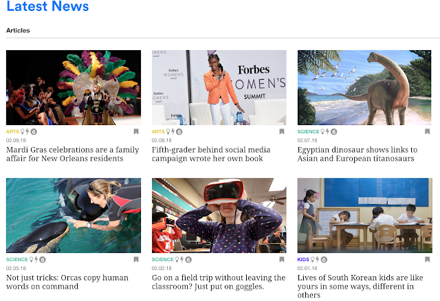 "screenshot of articles from the ""Latest News"" section of the site"