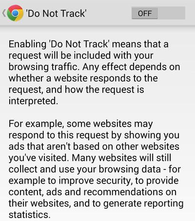 كيفية زيادة الخصوصية والأمان على هاتفك الذكى باستخدام خاصية عدم التتبع على جوجل كروم Do Not Track