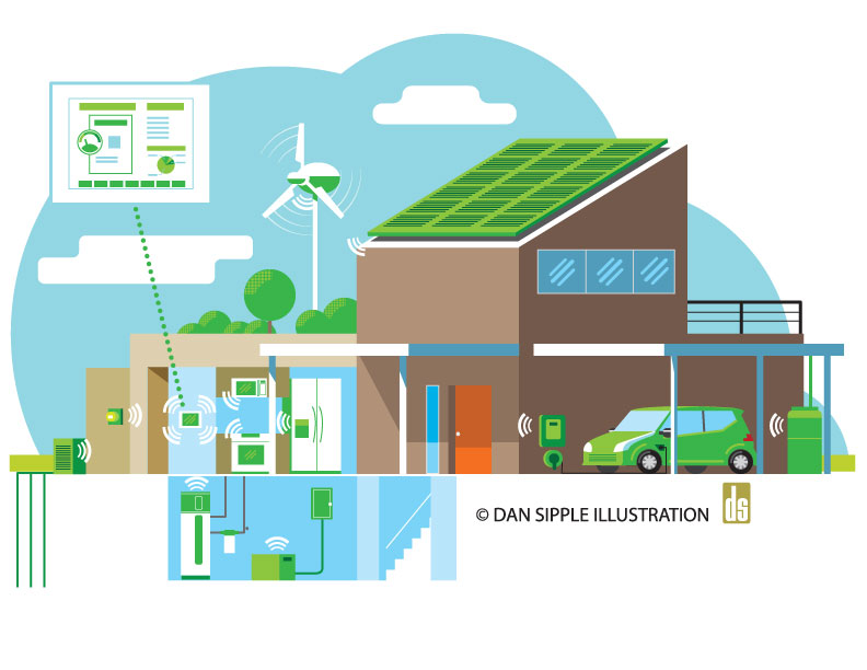 Dan sipple illustration blog energy efficient home for Energy house