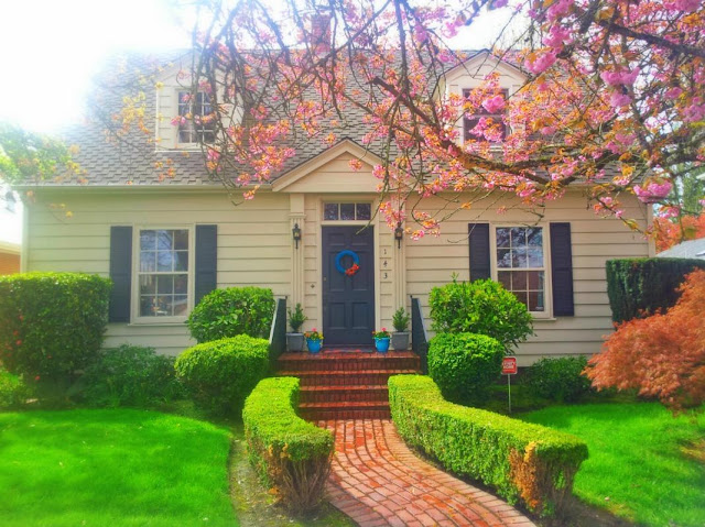 Spring, Cottage, Country Living, Gardening, Garden, Cherry Blossoms, Cottage Style, Landscaping, Whimsical