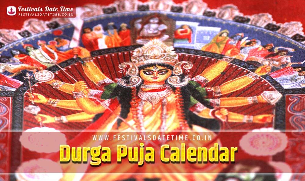 1426 Durga Puja Calendar, 1426 Bengali Durga Puja Date Time