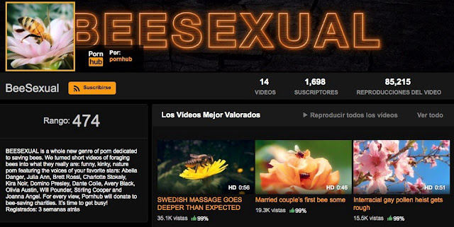 campaña-BeeSexual-Pornhub-conservacion-abejas