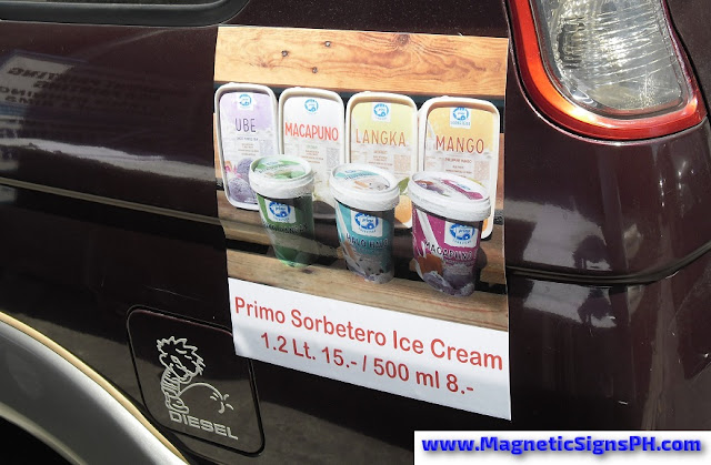 Vehicle Magnetic Sticker - Primo Sorbetero Ice Cream
