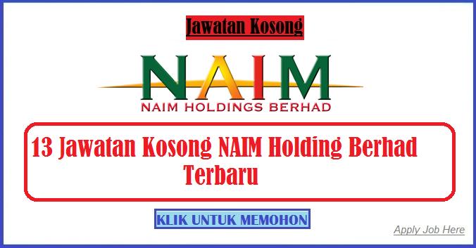Jawatan Kosong NAIM Terbaru apply job here