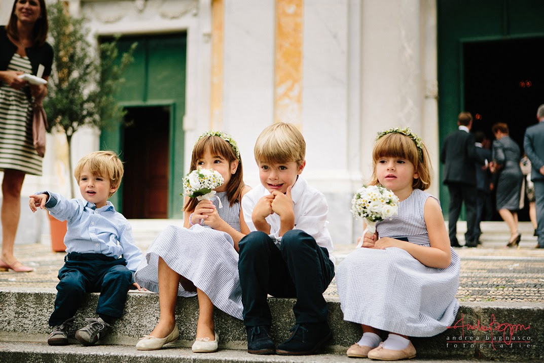 bambini a matrimonio Celle Ligure