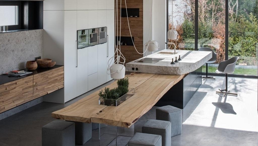 Piedra y madera en estado puro componentes de una cocina for Piedra granito para cocina precios