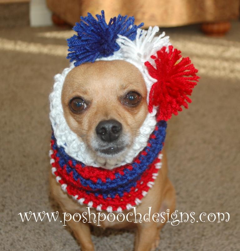 Posh Pooch Designs Dog Clothes Sports Team Dog Snood Free Crochet