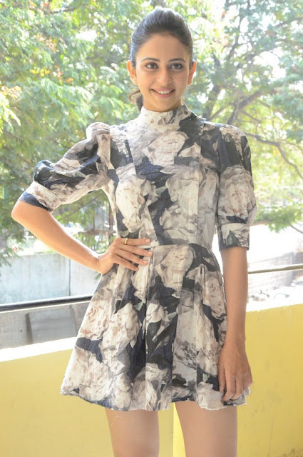 Rakul Preet Singh Hot Stills at Khakee Movie Success Meet