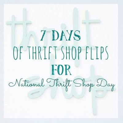 Celebrating National Thrift Shop Day with 7 Days of Thrift Shop Flips - today's flip is an old chair back!