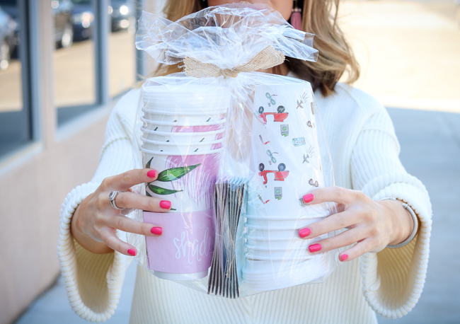 disposable coffee cups giveaway