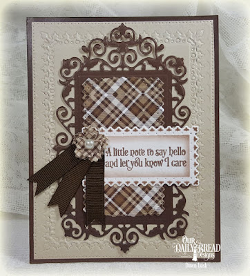 Our Daily Bread Designs Stamp Set: Faith Card Sentiments, Our Daily Bread Designs Custom Dies: Filigree Frames, Bitty Blossoms, Flourish Star Pattern