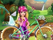 Rapunzel crashed her bike, will she be able to fix it? Join the handy princess in her workshop and help her clean up the bicycle, repair the tires and frame, so you can decorate it afterwards. With her new bike Rapunzel will ride in style and be safe from any possible dangers.
