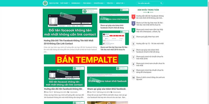 Bán Template blogspot Sparks Premium Gird Edited v3.5 bản cá nhân chuẩn seo