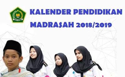 ini disampaikan melalui SK Dirjen Pendis Nomor  KALENDER PENDIDIKAN (KALDIK) MADRASAH 2018/2019