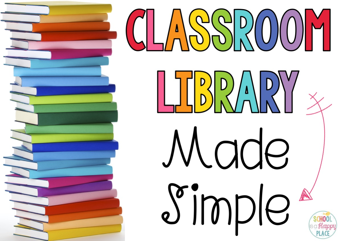 School is a happy place classroom library made simple for Room labels