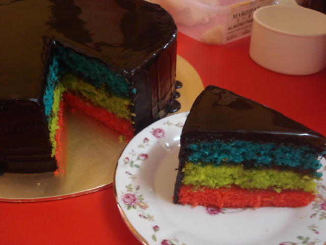 Rainbow Cake Recipe Italian: Shyieda Gateaux Homemade Melaka: Recipe Italian Rainbow