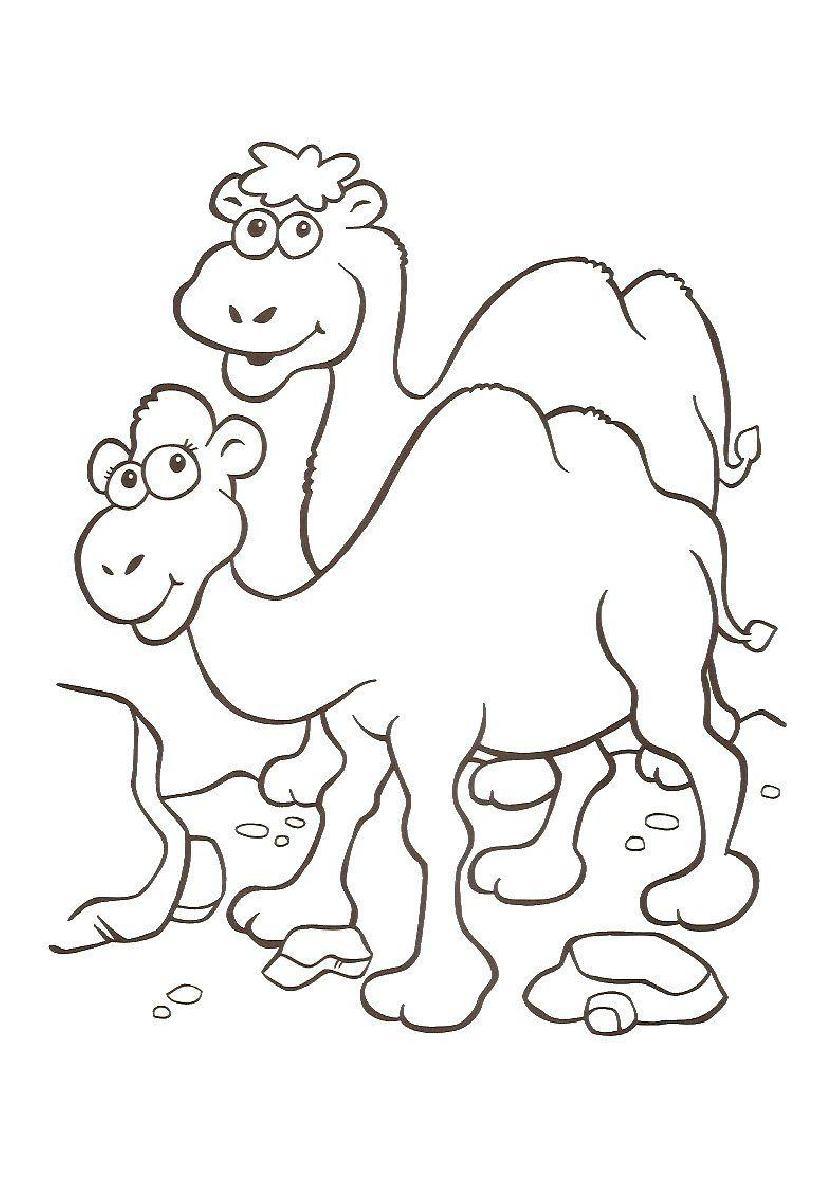 Único Camello Para Colorear Cresta - Ideas Para Colorear ...
