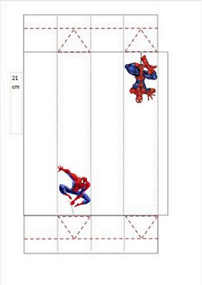 Cajas de Spiderman para imprimir gratis.