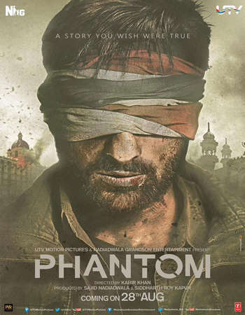 Poster Of Phantom 2015 Hindi 550MB BluRay 720p ESubs HEVC Watch Online Free Download downloadhub.in