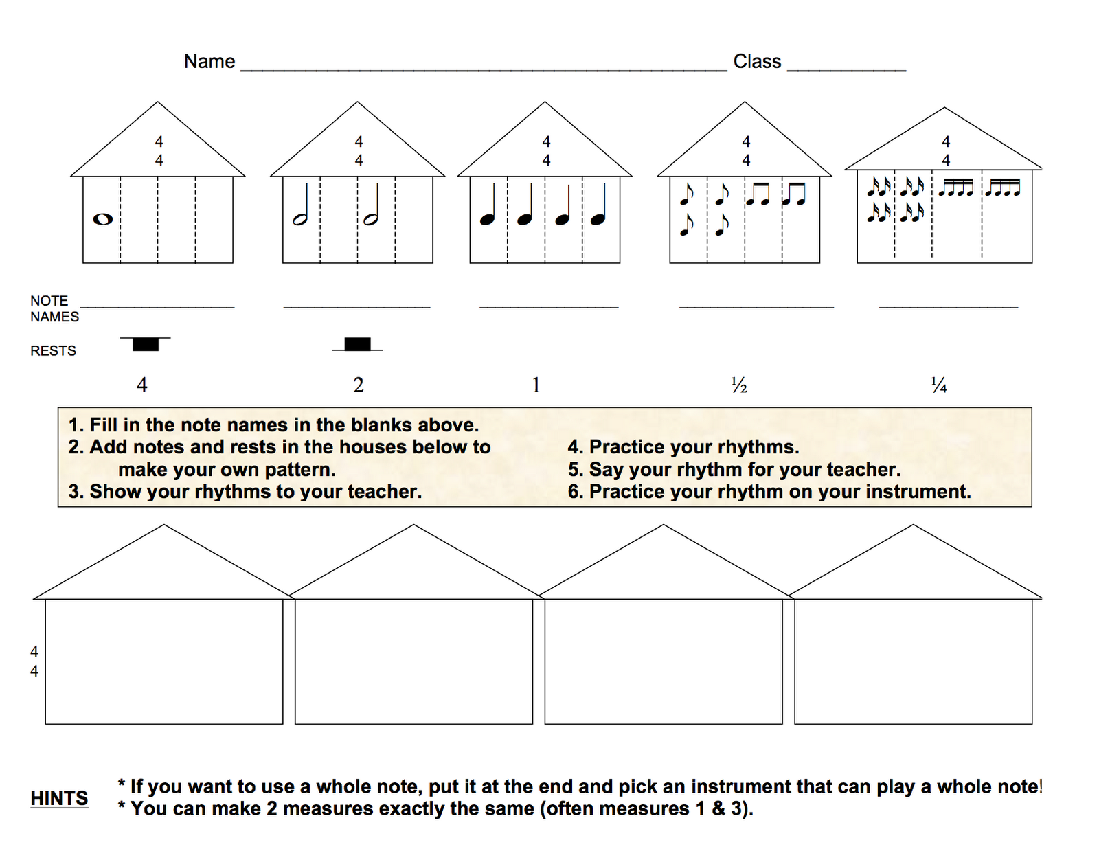 4th Grade Rhythm Assessments
