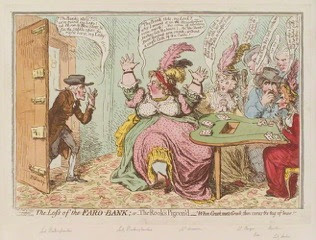Georgian Gambling caricature