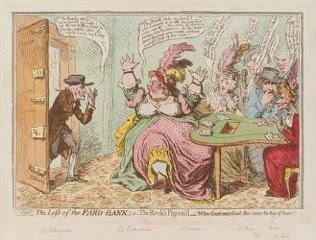Georgian Gambling caricature