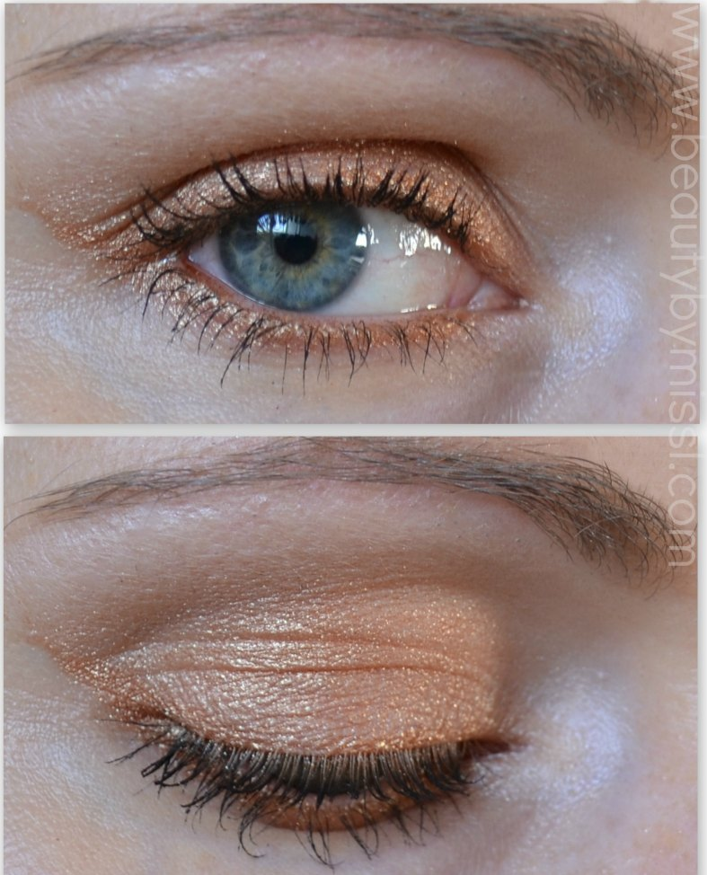 light golden eye makeup
