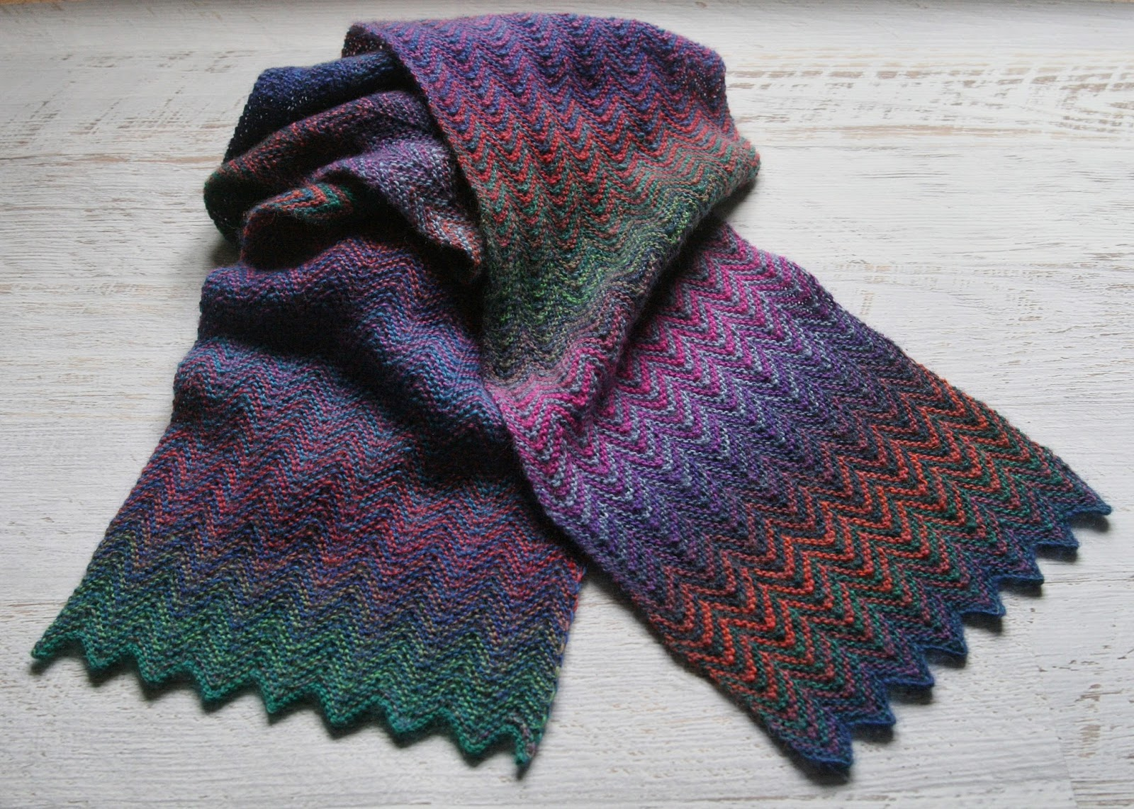 Fifty Shades Of 4 Ply Colour Play A Knitted Scarf Project