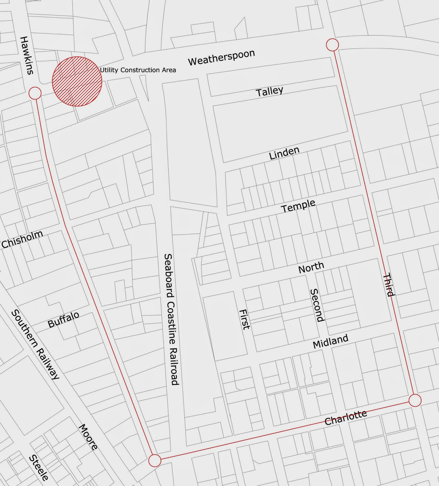 City of Sanford, NC: East Weatherspoon Street Closed Next Week