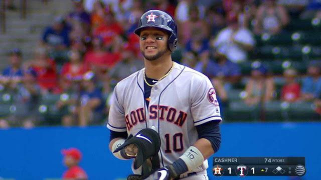 La temporada memorable de Yulieski Gurriel como novato de los Astros de Houston no se detiene ni, mucho menos, deja de reunir estadísticas muy interesantes.