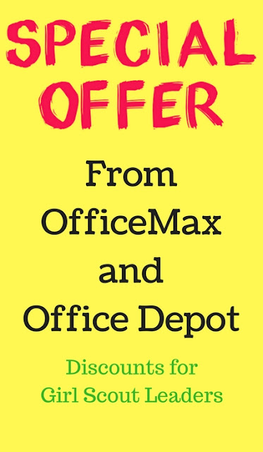 Girl Scout Freebie Office Depot Office Max Girl Scout Discount for Leaders
