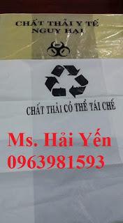 Túi đựng rác y tế, cung cấp túi phân loại rác, túi rác bệnh viện giá rẻ