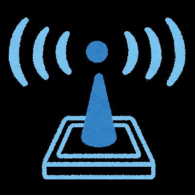 電波発信機のイラスト