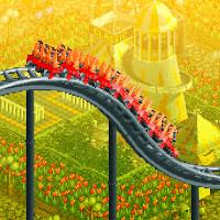 Imagen pixelada para iOS y Android de RollerCoaster Tycoon: Classic, Chris Sawyer Productions, publicado por Atari Interactive, 2016