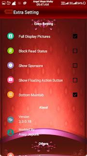 BBM Mod Red Angelic V3 Base Official 3.0.0.18 Apk