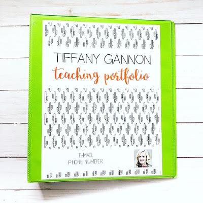 teacher portfolio for interviews