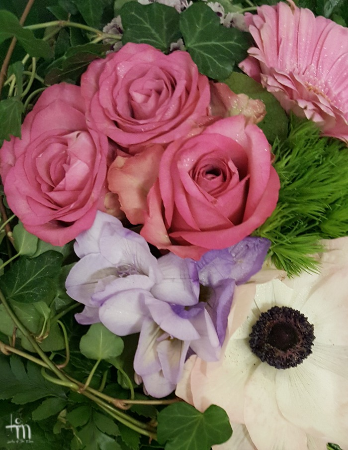 vaaleanpunaiset ruusut kimpussa