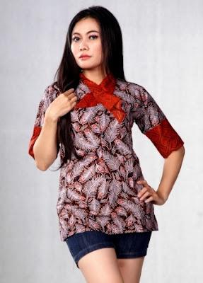 Ide baju batik pekalongan untuk wanita kantoran