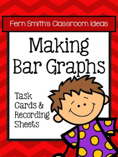 Fern Smith's Classroom Ideas Making Bar Graphs Task Cards, Recording Sheets and Answer Keys with no Common Core at TeacherspayTeachers.