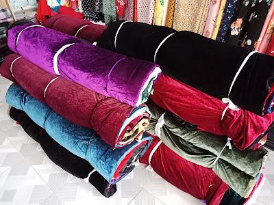 Công ty ADAMIS về Lô 330kg vải nhung thời trang. Vải Khúc 1yard trở lên.... May đủ váy, đầm, áo dài