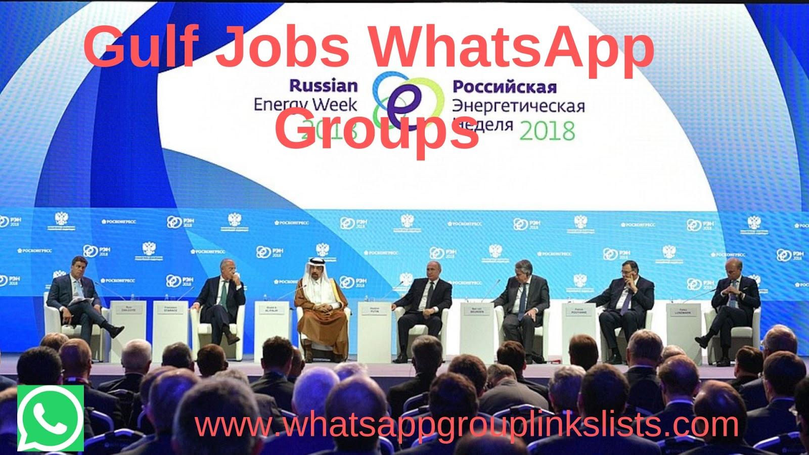 Join Gulf Jobs WhatsApp Group Links List