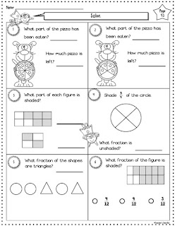 Free Super Fractions Worksheet