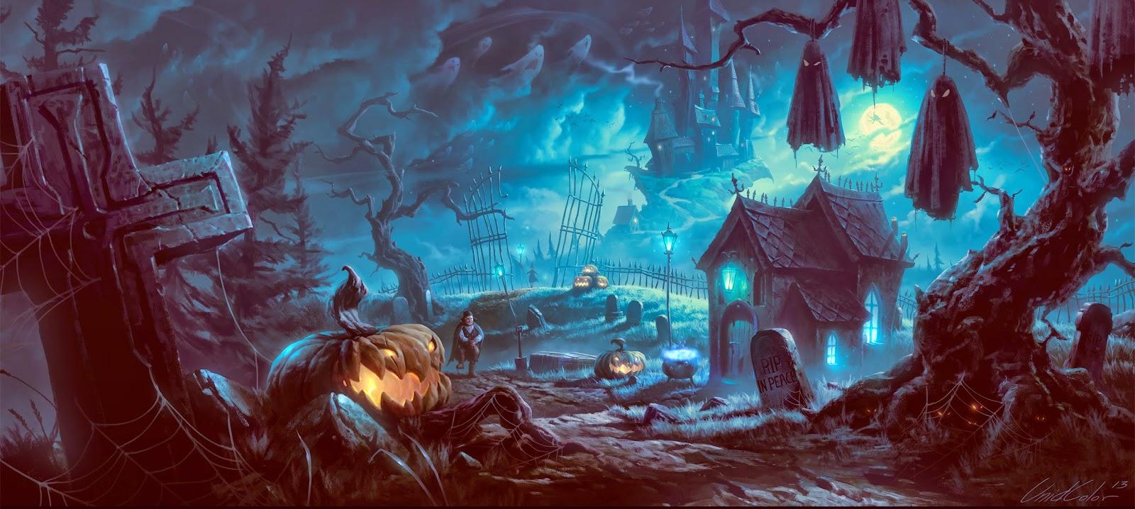 Haunted House ? Wallpapers: Harvest Time Desktops / free Horror ...