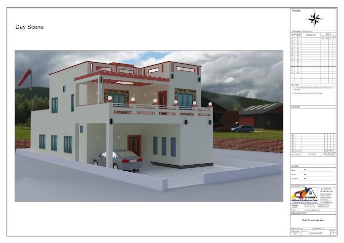 10 Marla House Plan Complete 2d and 3d_Khokhar Builder's