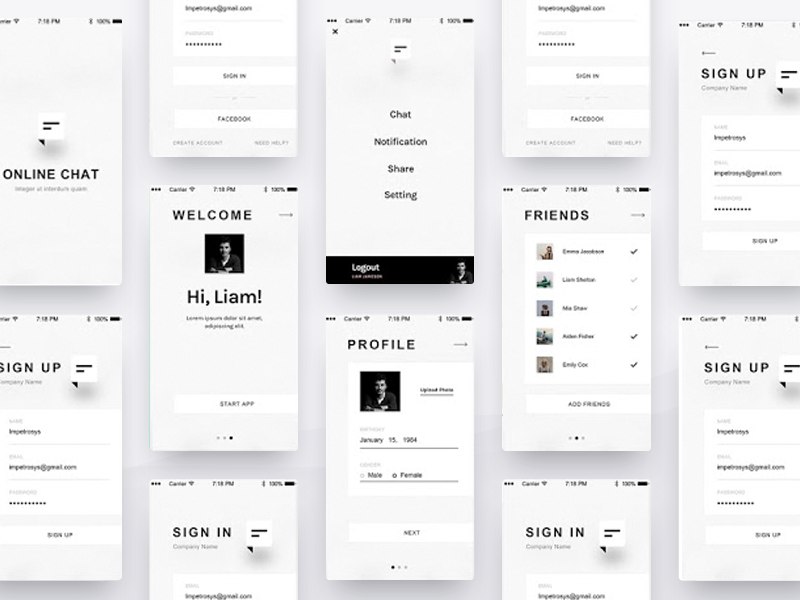 Chat UI Design For Android And iOS